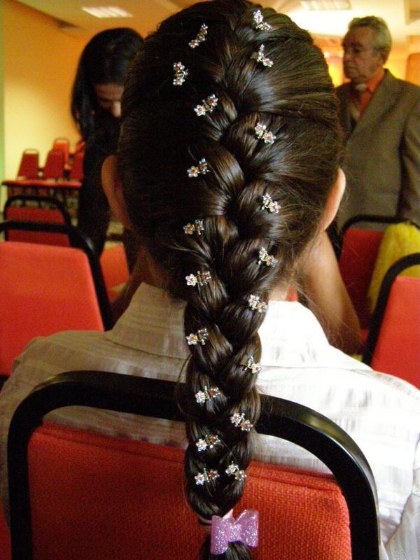 Decorated French Black Braided Hair Hair Styles French Braid Hairstyles Womens Hairstyles