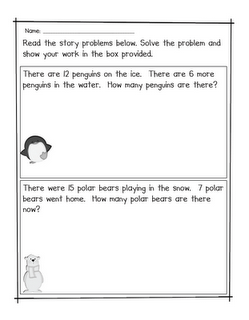 Winter Story Problems via Fabulous in First