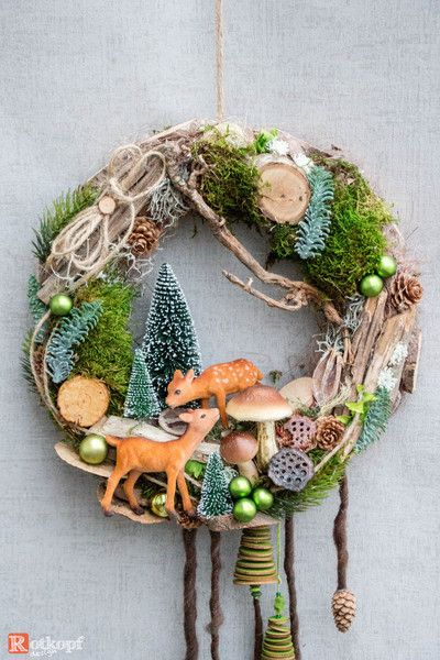 Photo of Advent wreath – door wreath Christmas 17/1 – a designer piece by Rotkopf-desig …