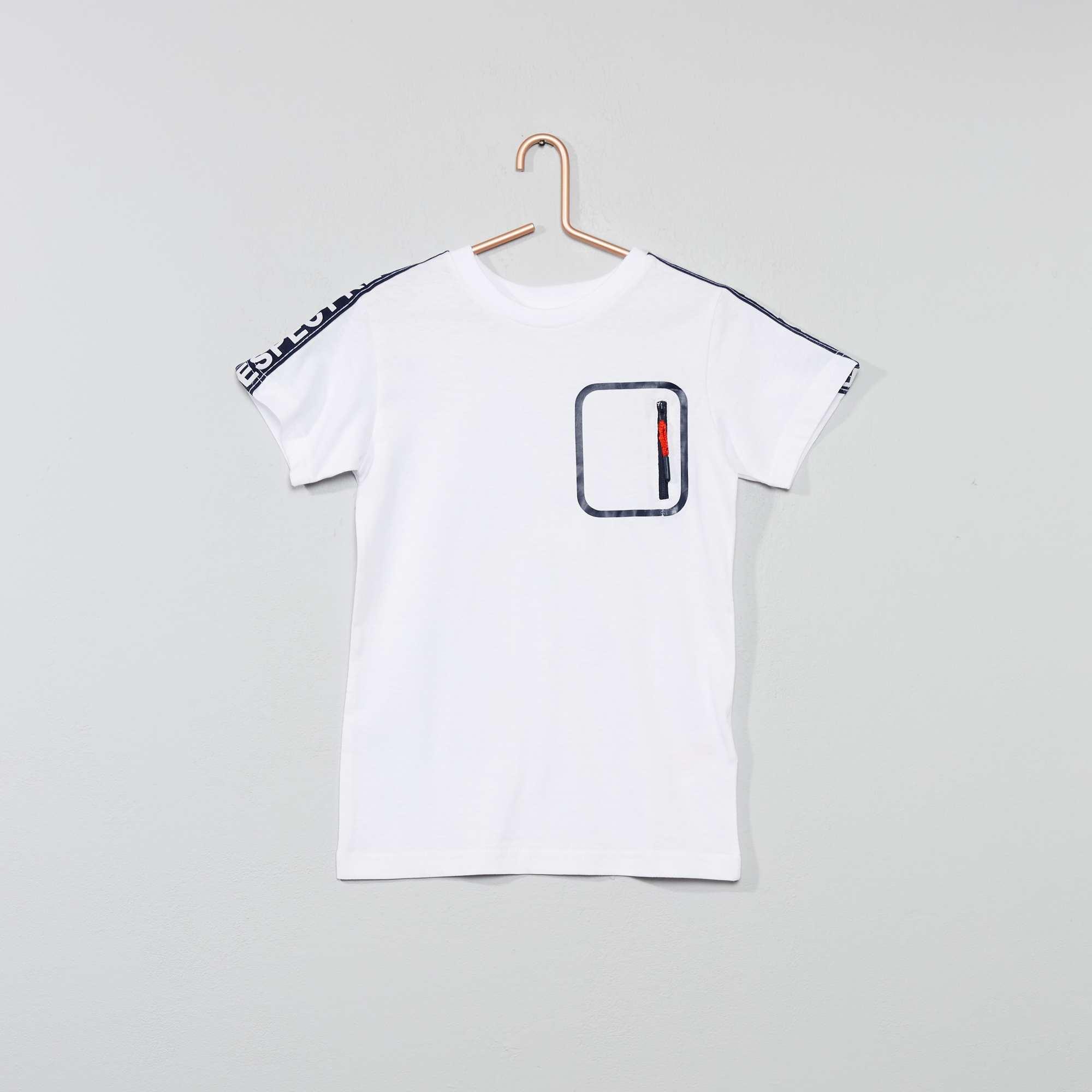 data di uscita: a basso costo nuovo di zecca Maglietta strisce stampate Infanzia bambino - bianco - Kiabi - 10 ...