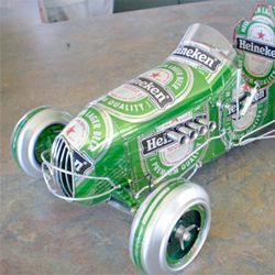 beer can craft ideas miniature cars created out of recycled soda and cans 3433
