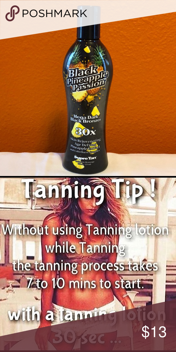 Indoor Tanning Bed Lotion 💥💥NEW💥💥 BLACK PINEAPPLE PASSION