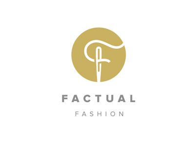 Fashion Logo / faction / branding / identity / icon / circle / needle and thread