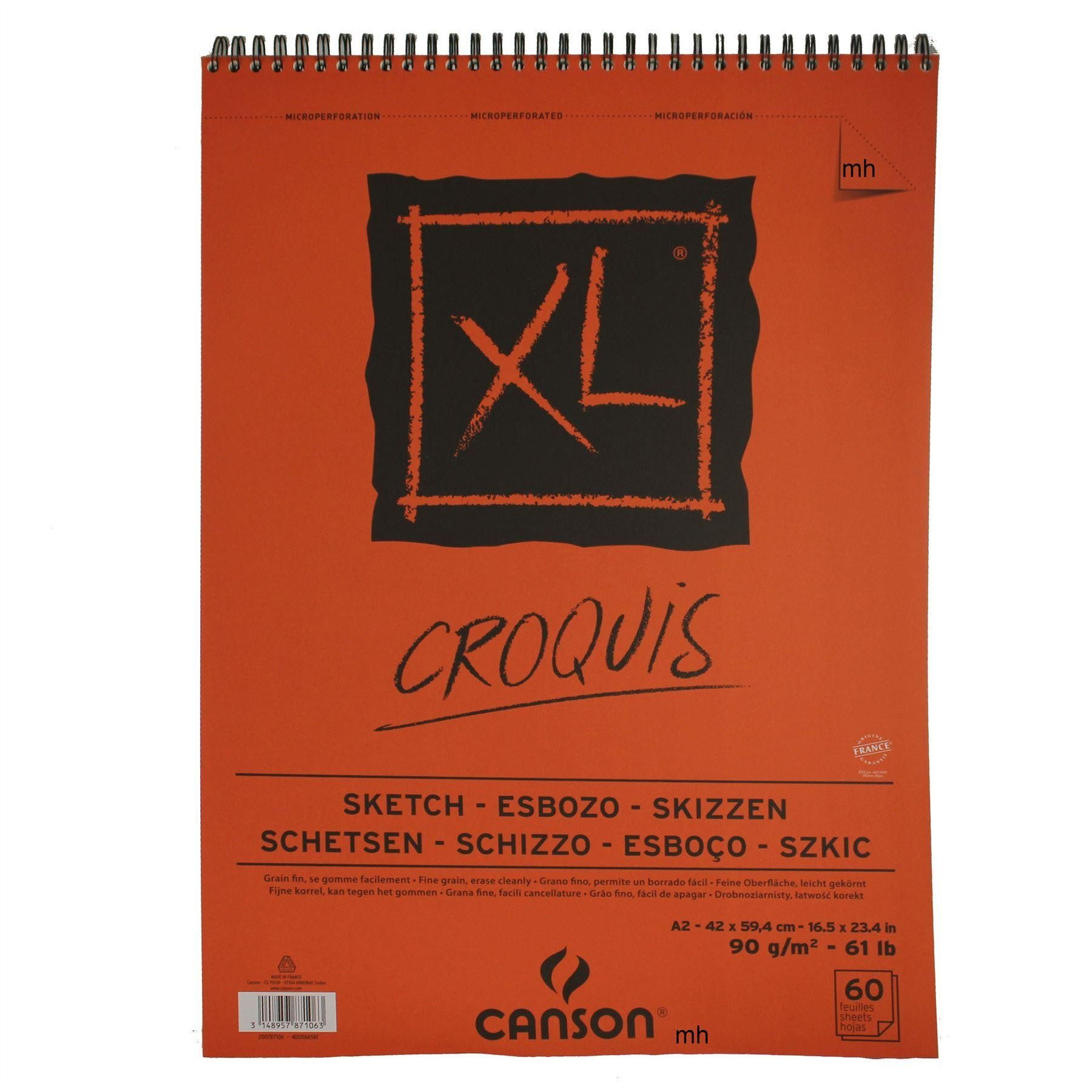 Canson Xl Artsits Sketch Paper Pad 90gsm A5 A4 A3 Or A2 In 2020