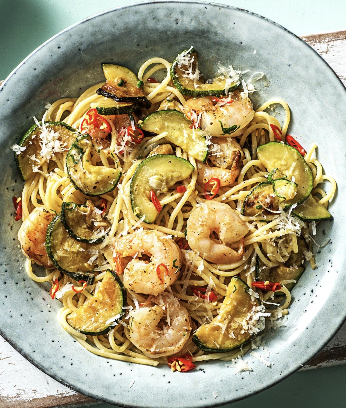 Spicy Shrimp Pasta With Zucchini Recipe Hellofresh Recipe Hello Fresh Recipes Cooking Seafood Seafood Pasta Recipes