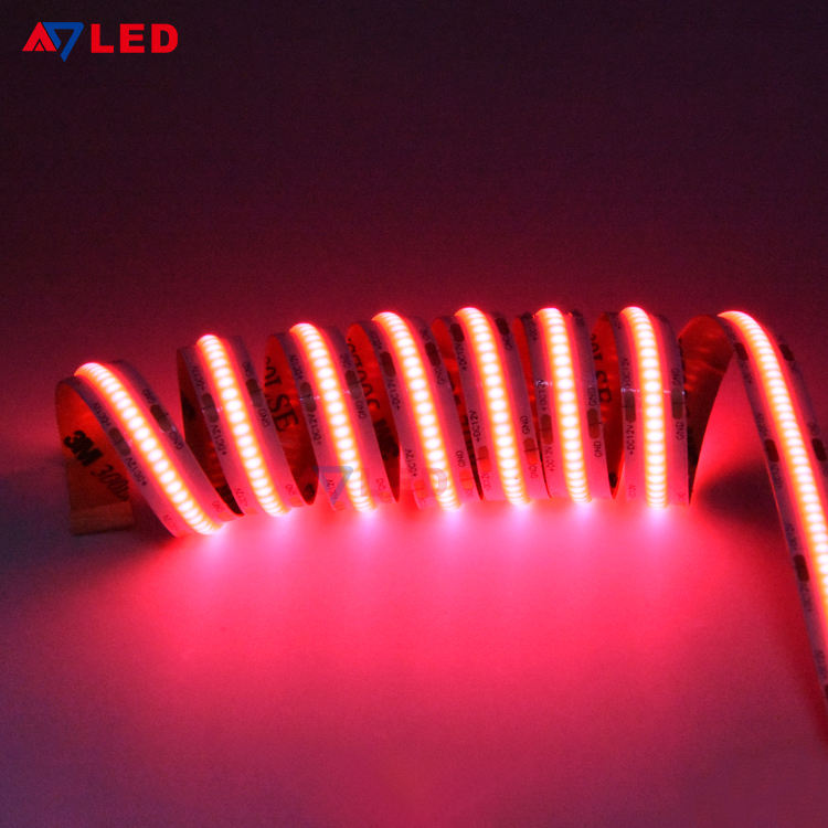 Newest High Lumen 1400lm 528leds Dc12v 8mm Cob Led Flexible Strip Buy 528leds Flexible Cob Le Led Strip Lighting Led Flexible Strip Flexible Led Strip Lights