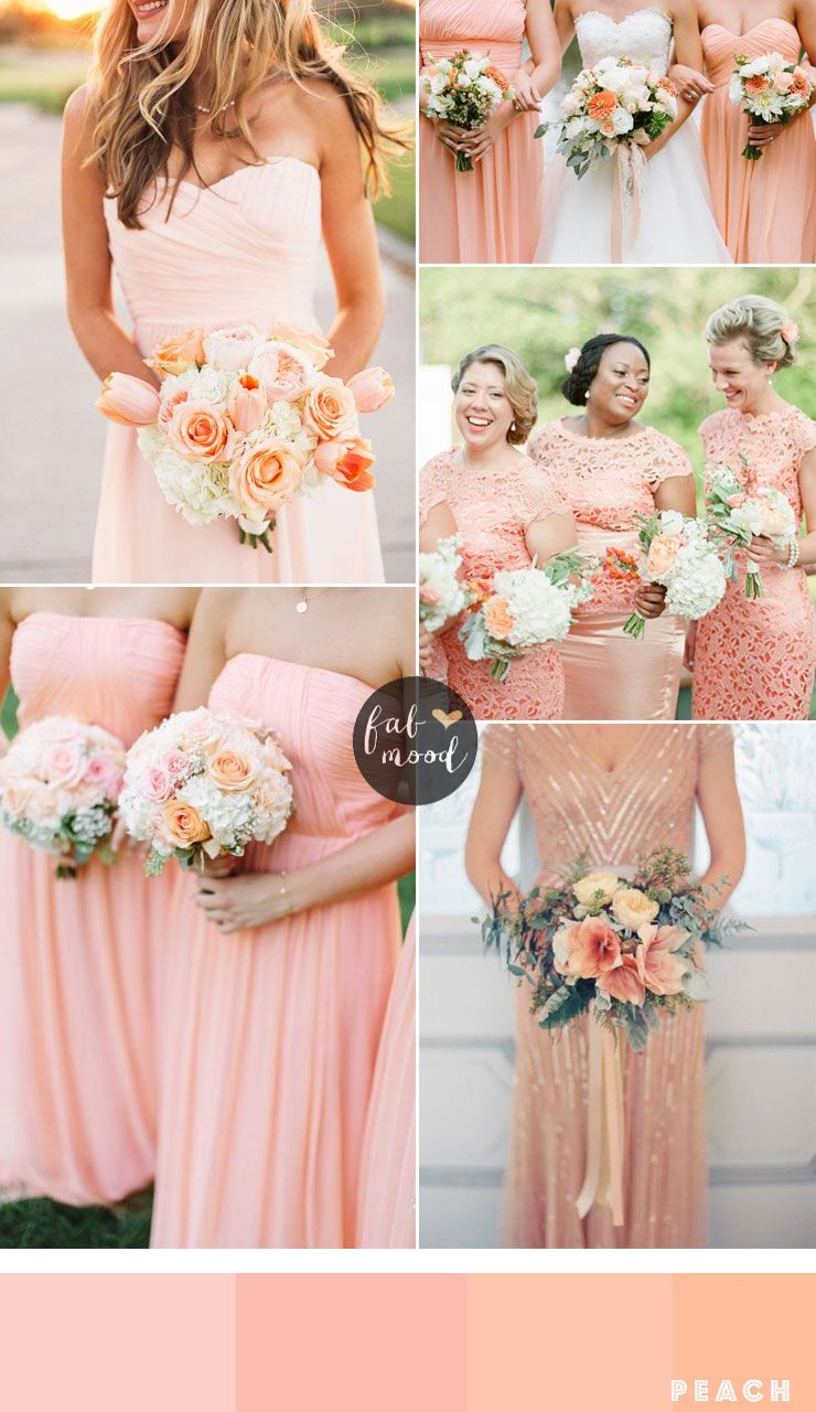 Bridesmaids dresses by colour and theme that could work for Peach dresses for wedding