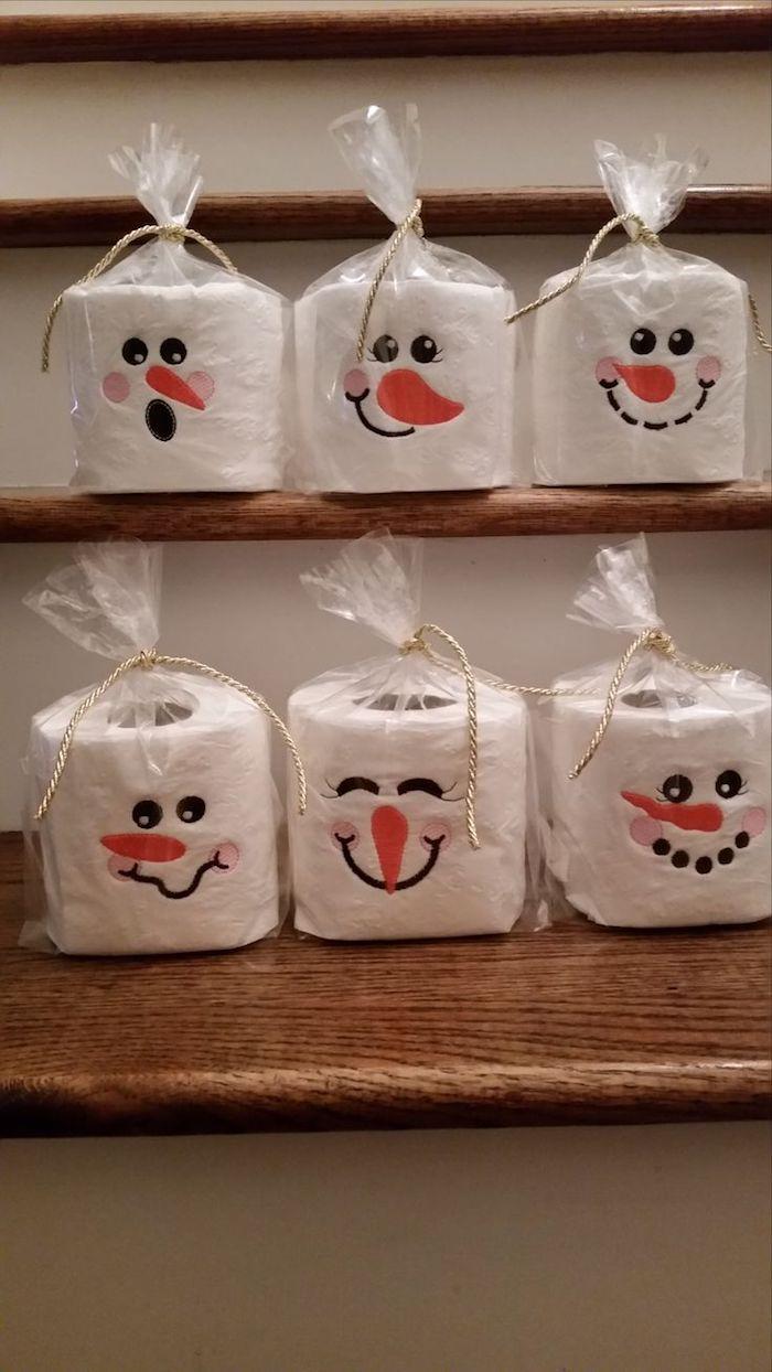 ▷ 1001 + Ideen und Anleitungen zum Thema Schneemann basteln #kleineweihnachtsgeschenkebasteln