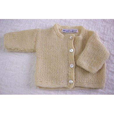 If there is only one cardigan you want to knit for baby I recommend this one.It is one of my most treasured designs.It is simple and beautiful,a true classic in pattern and shape and can be teamed with just about any outfit you can think of.It fits really well and looks adorable on both boys and girls.Moss stitch has an amazing ability to retain its shape and spring back after washing with a lovely supple feel to it.It is light and warm at the same time.I especially like it in a natural…