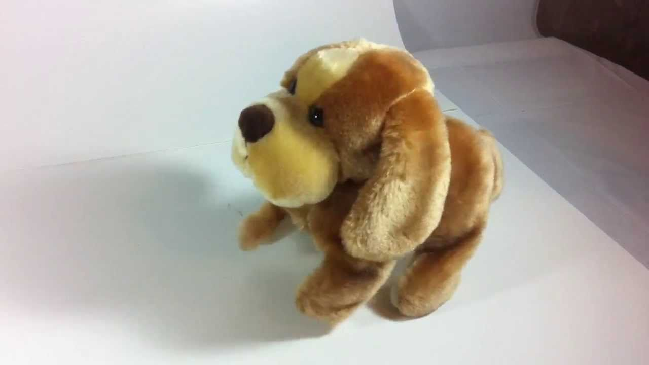 Animal Alley Toys R Us Flipping Electronic Brown Puppy Dog Robot