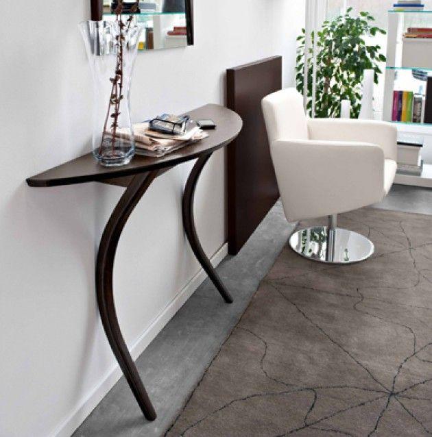 MODI Console Table Calligaris. Soft Curves Define The Modi 2 Leg Design.  Attaches To