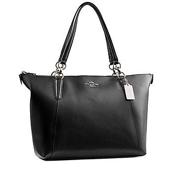 Coach Ava Midnight Blue Pebble Leather Tote Bag On Sale At Shophq Com Bags Leather Tote Leather Tote Bag