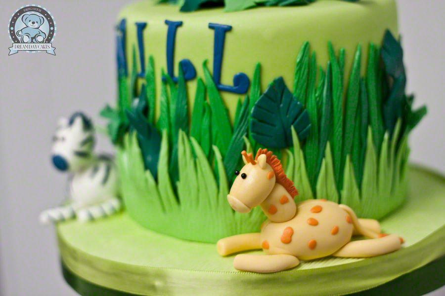 Terrific Jungle Fondant Cake Jungle Themed Birthday Cake Gainesville Fl Birthday Cards Printable Inklcafe Filternl