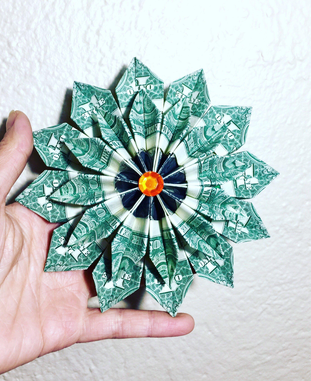 Money Origami Money Flower Origami Flower Flower Wreath