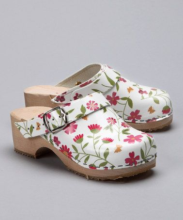 Take a look at this White Flower Garden Clog - Girls by Cape Clogs on #zulily today!