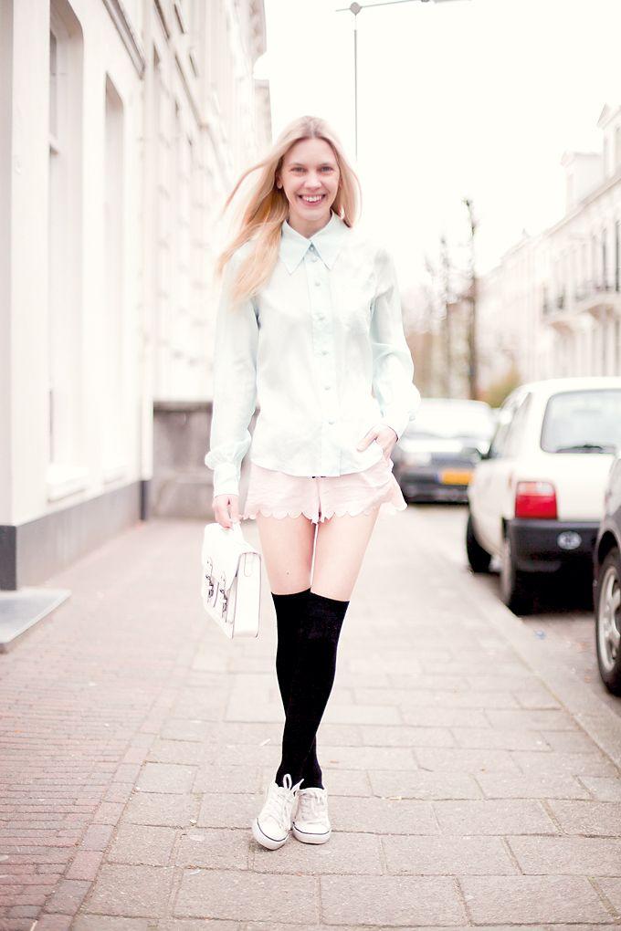 d75d0448315 streetstyle fashion - Marc Jacobs spearmint blouse