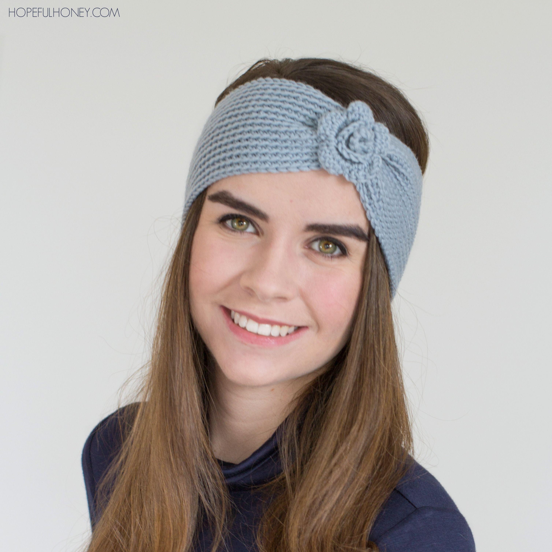 Mia Crochet Headband   Crocheted headbands, Crochet and Easy