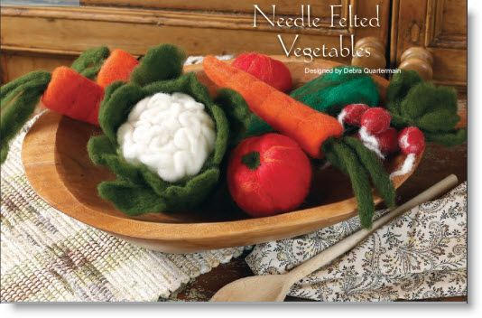 How fabulous are these needle felted veggies? Wow! Needle Felted Veggies tutorial · Felting | CraftGossip.com#comment-18487
