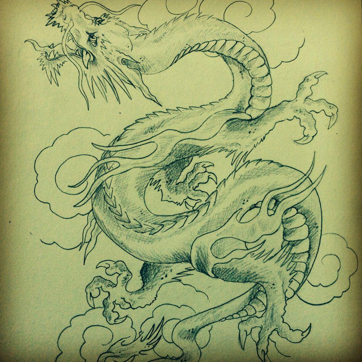 Dragon tattoo flash my tattoo designs and drawings pinterest