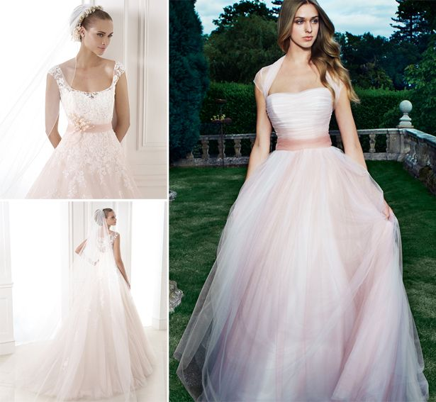 Light Pink Wedding Dress, Wedding