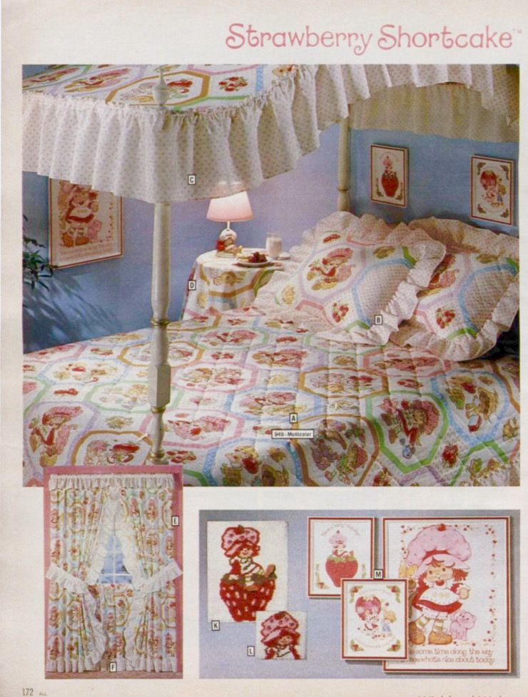 . This was my bedroom      80 s 90 s   Strawberry shortcake doll