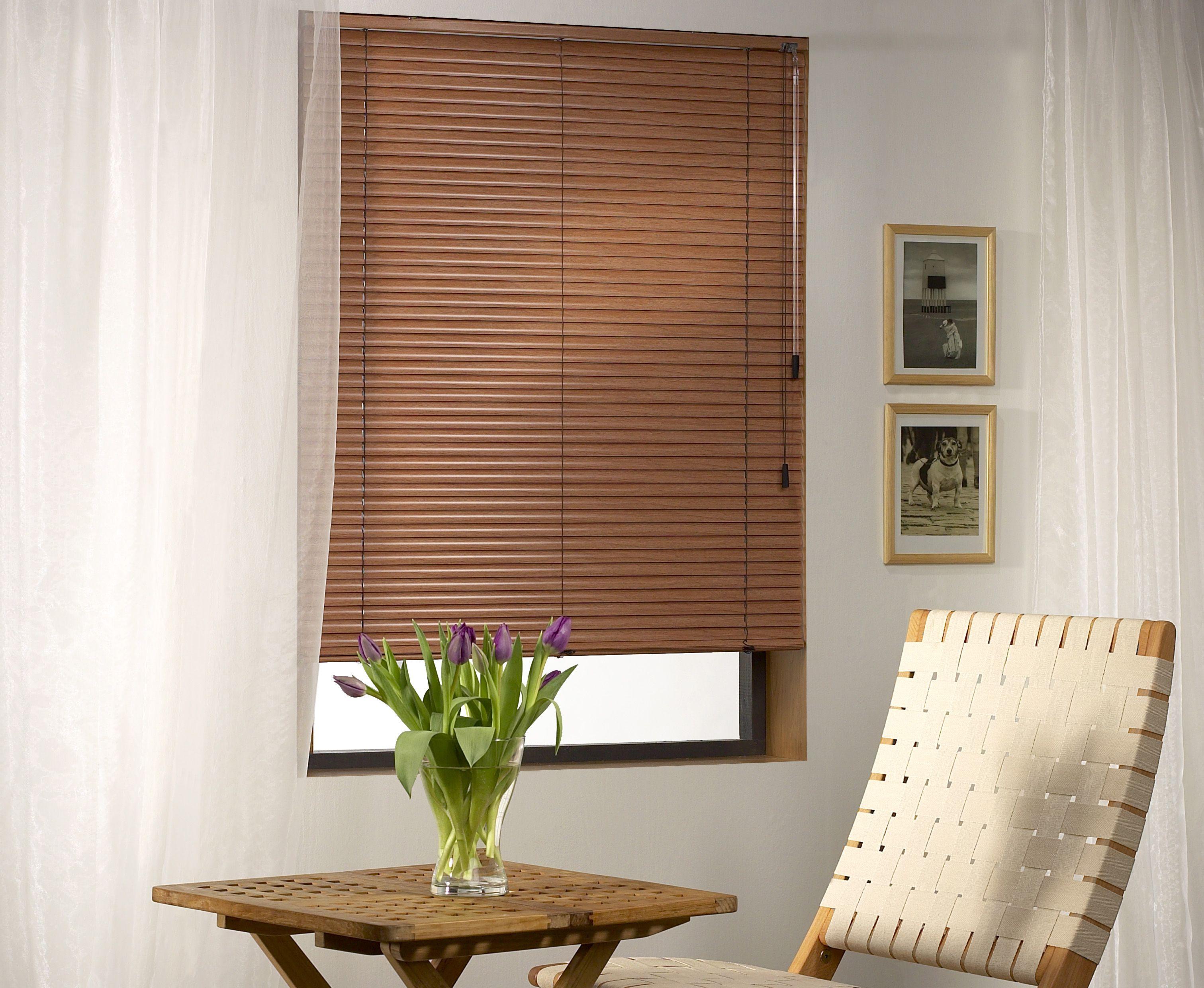 Aluminum slats for 25mm venetian shutters buy aluminium - Get The Look Of Wood With A 25mm Aluminium Venetian Blind Our Wood Tones Collection