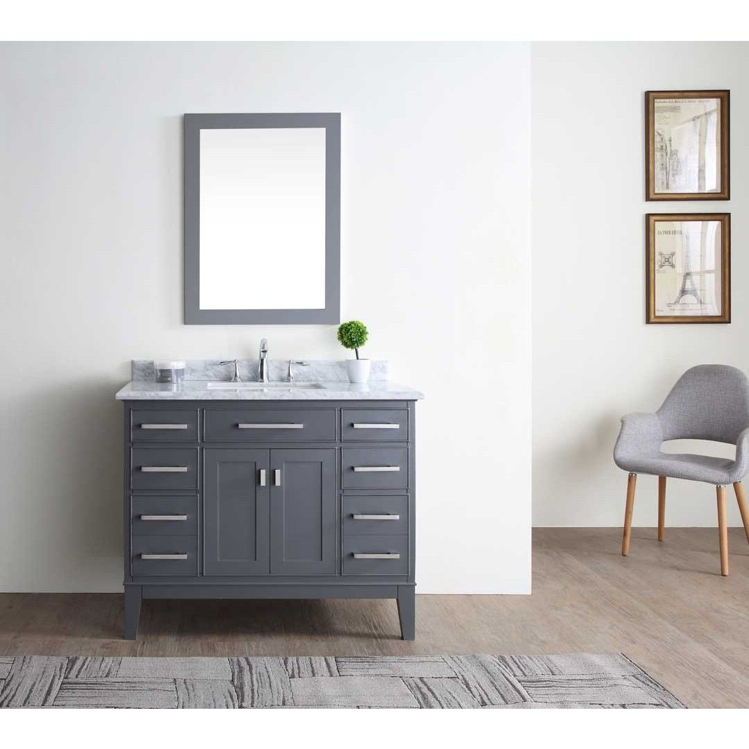 Ari Kitchen & Bath Danny Maple Grey 42-inch Single Bathroom Vanity ...