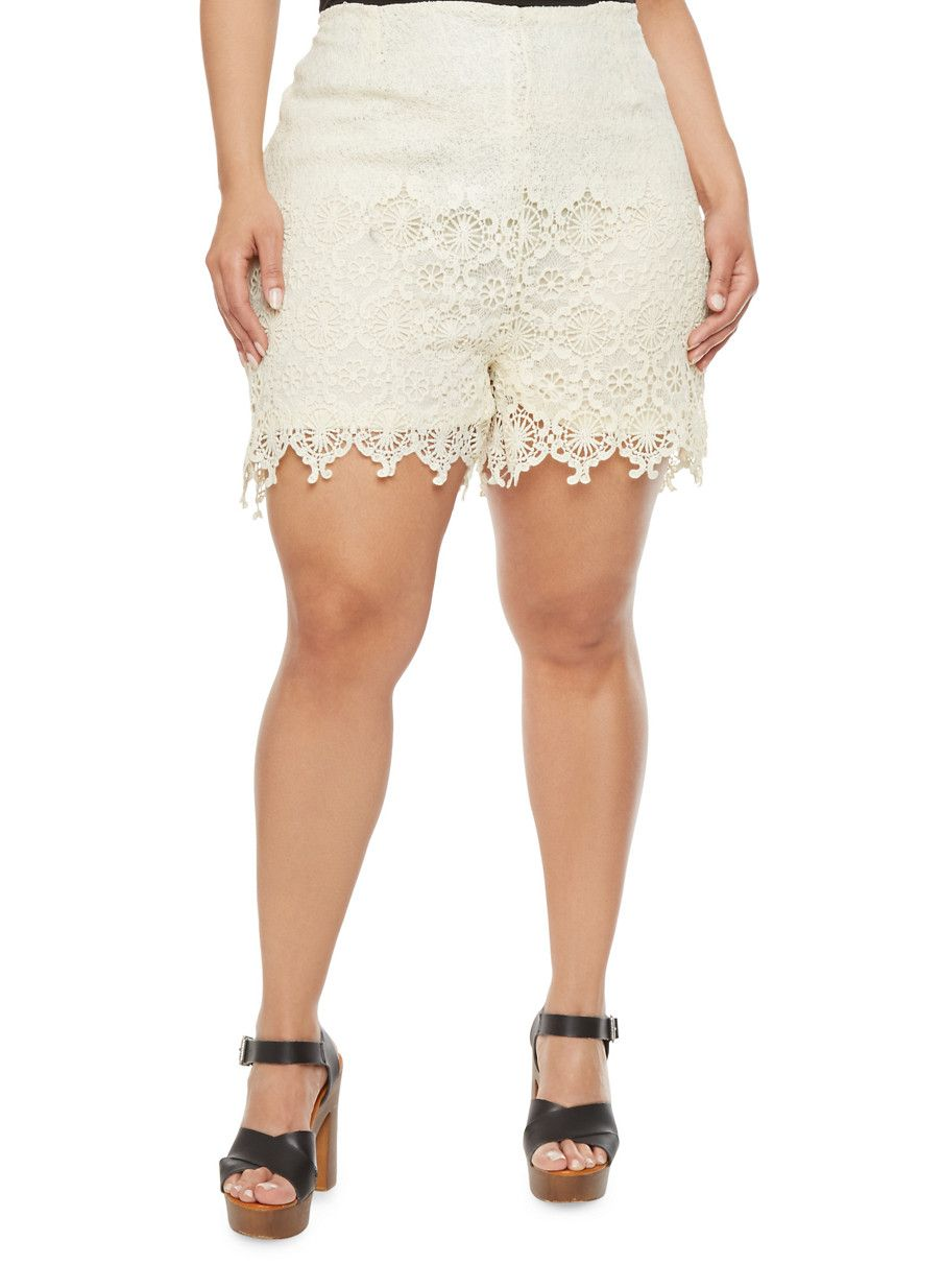 rainbow plus size crochet shorts | say hello to a warm-weather