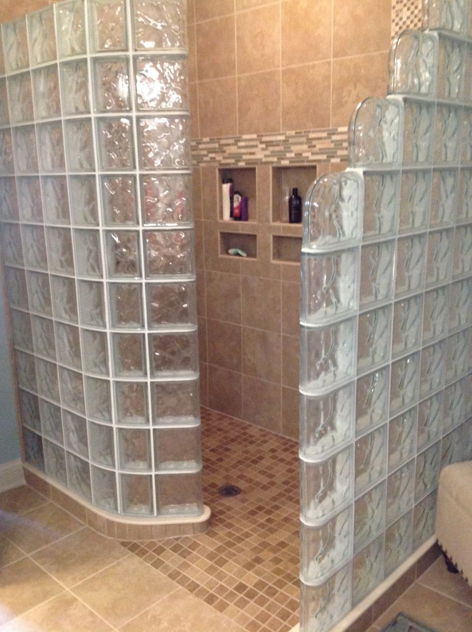 Glass block showers 7 reasons to choose a ready for tile base glass block bathroom ideas glass block shower with a ready for tile shower base dailygadgetfo Choice Image