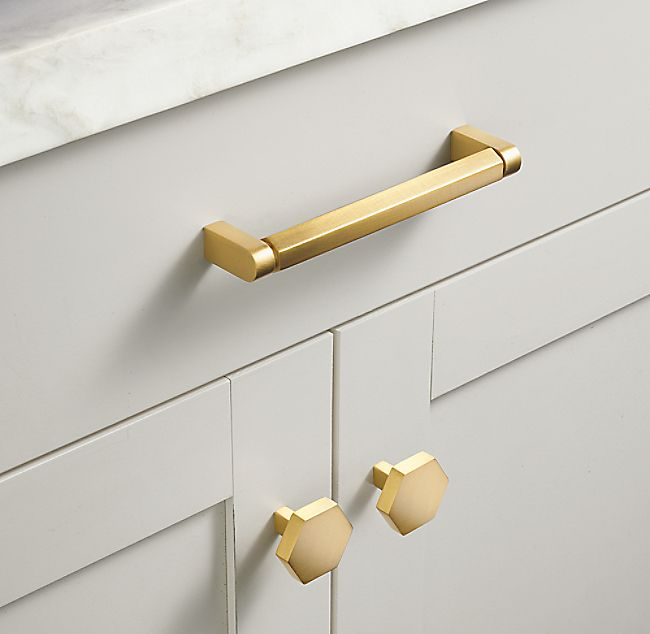 Lambeth Hexagonal Pull In 2020 Brass Kitchen Hardware Gold Kitchen Hardware Cabinetry Hardware
