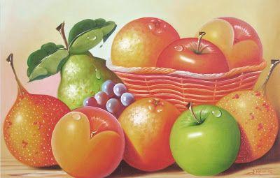 Cuadros Al Oleo Para Cocina Psisajes Fruit Apple Y Pear