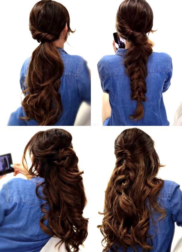 Peinados fáciles para otoño   Tutorial hair Pinterest Peinado