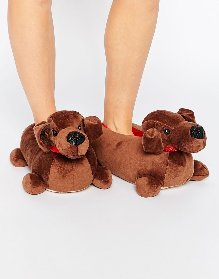 e89bd5cadc1058 Image 1 of New Look Nacho Sausage Dog Slippers Dachshund Gifts