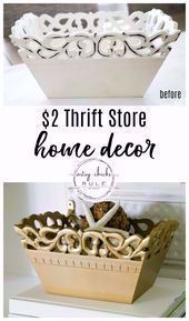 $2 Thrift Store Home Decor - Decorate your home on a BUDGET...so simply!!! artsy... - Furniture Makeover Ideas on a Budget -   #artsy #budget #BUDGETso #décor #decorate #Furniture #Home #Ideas #Makeover #Simply #Store #thrift