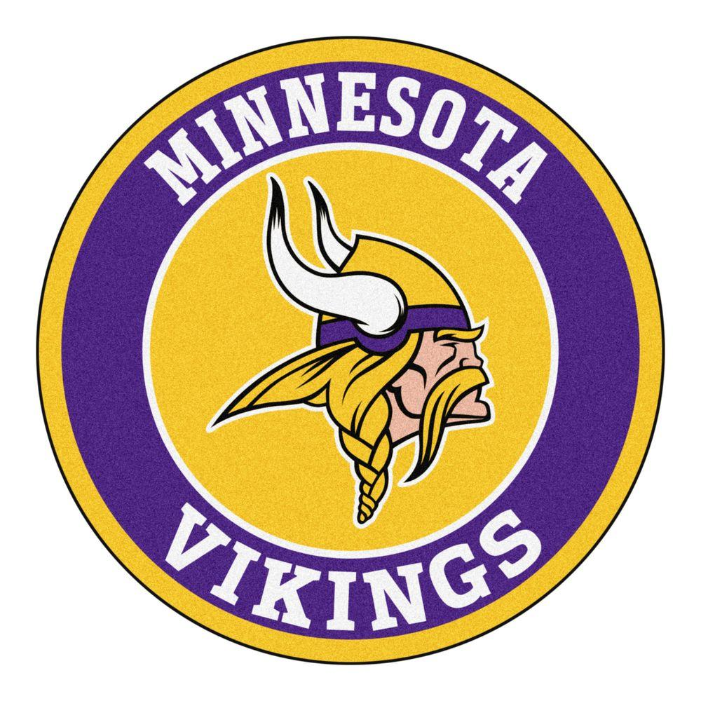 NFL Minnesota Vikings Purple 2 ft. 3 in. x 2 ft. 3 in. Round Accent Rug