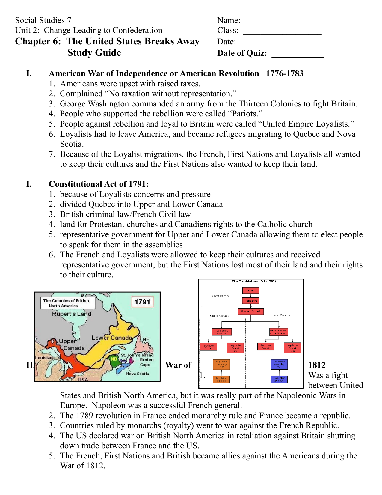 hight resolution of Our Canada Chapter 6 Study Guide Resource Preview   Study guide