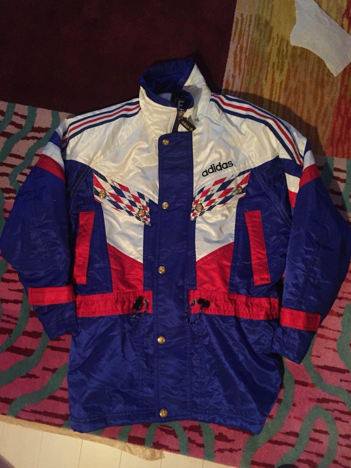 04ec8a01 Details about Adidas Jacket Vintage 90 JASPOL Descente Ski Football ...