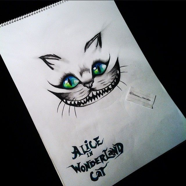 Drawing alice in wonderland cheshire on instagram