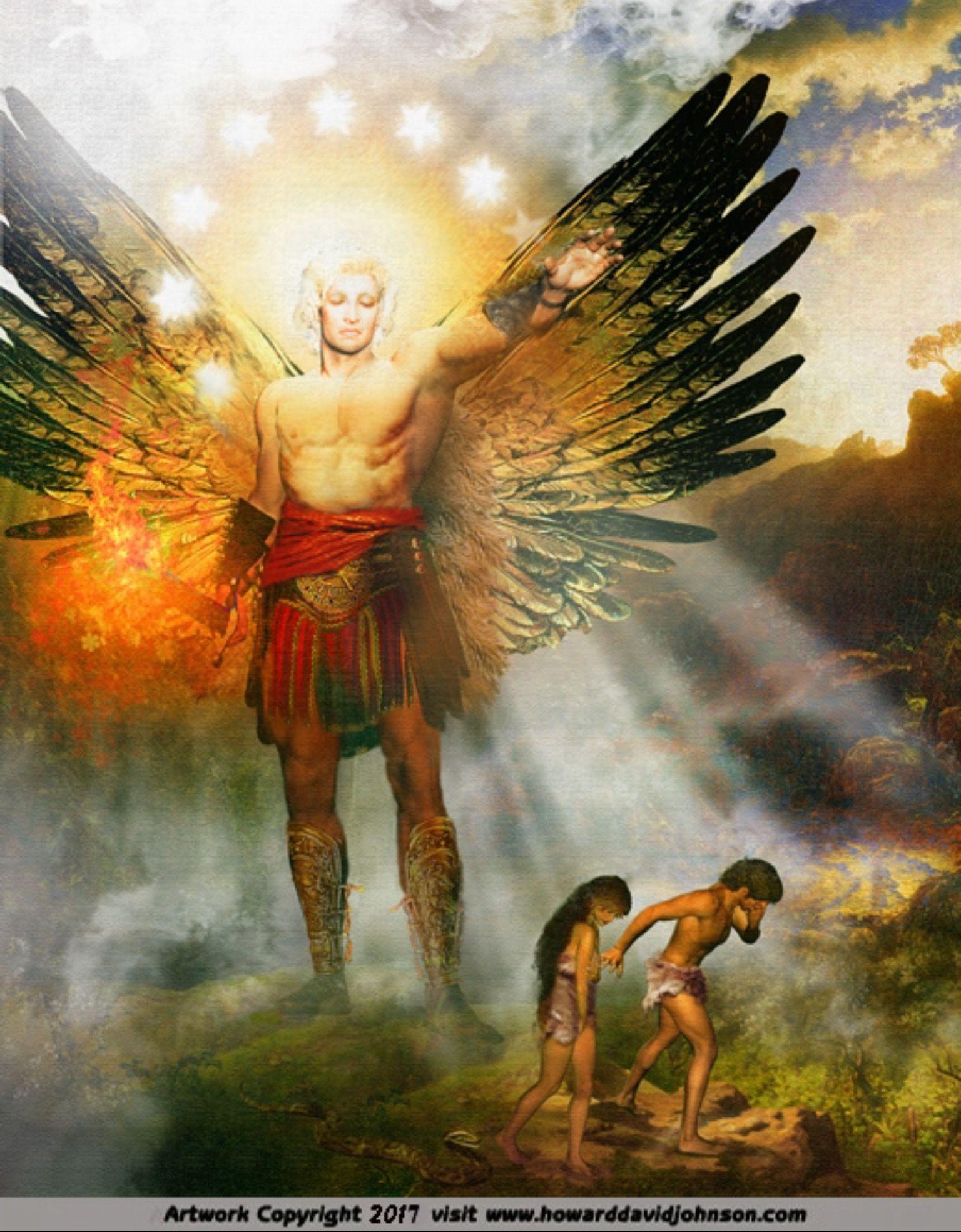 Adam And Eve Expelled From The Garden Of Eden. Genesis 3:23-24 KJV ...