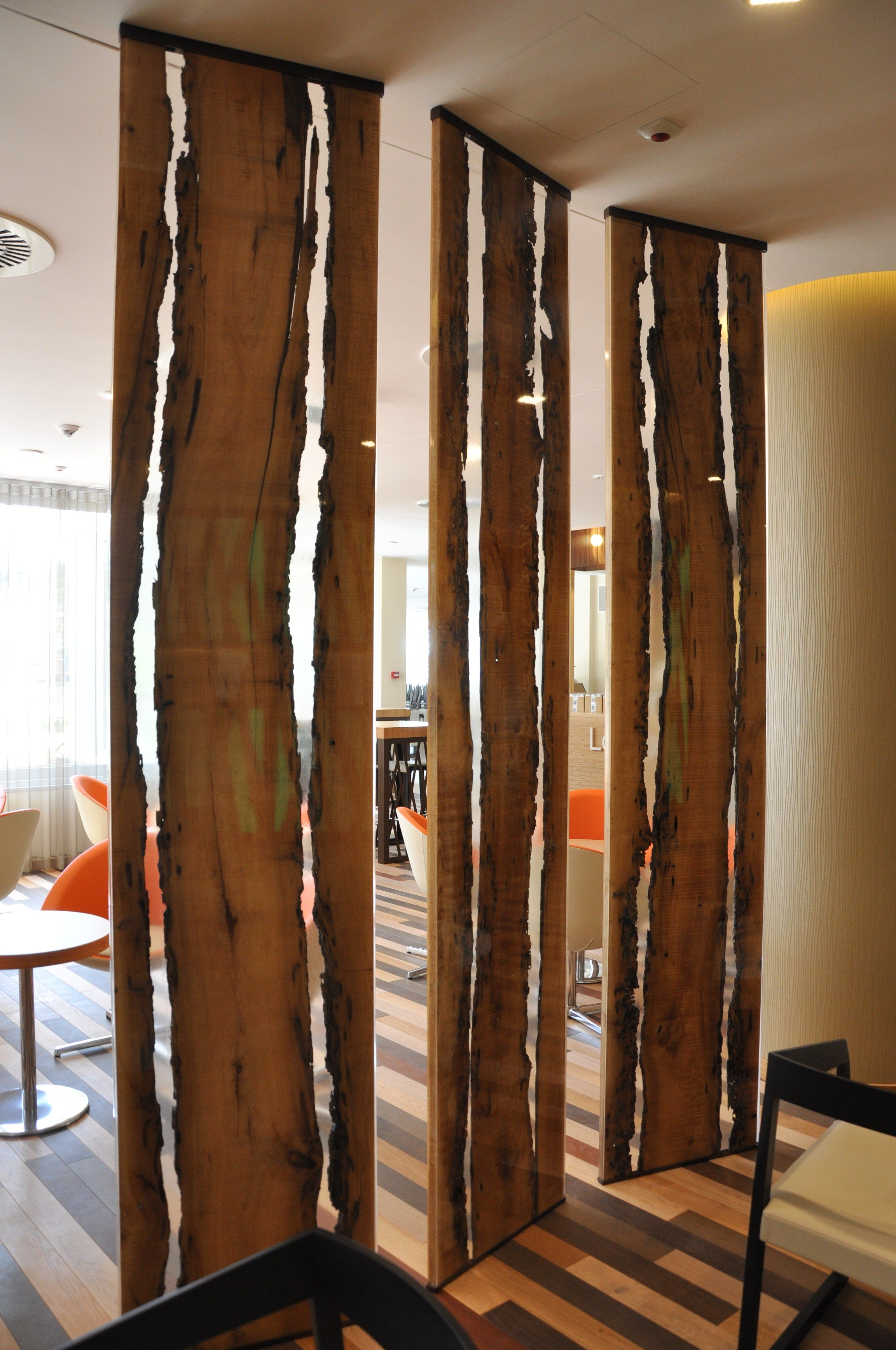 Wood And Resin Room Divider By Antico Trentino Di Lucio