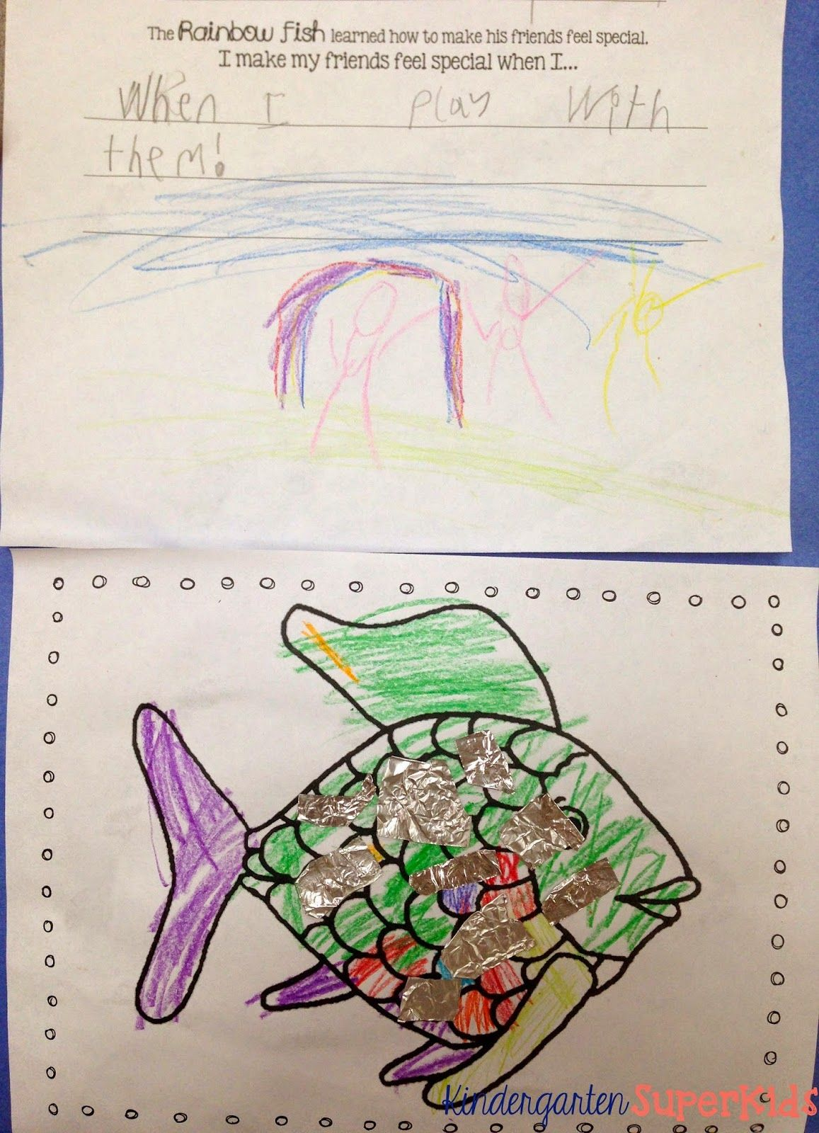 Rainbow Fish Worksheet For Writing