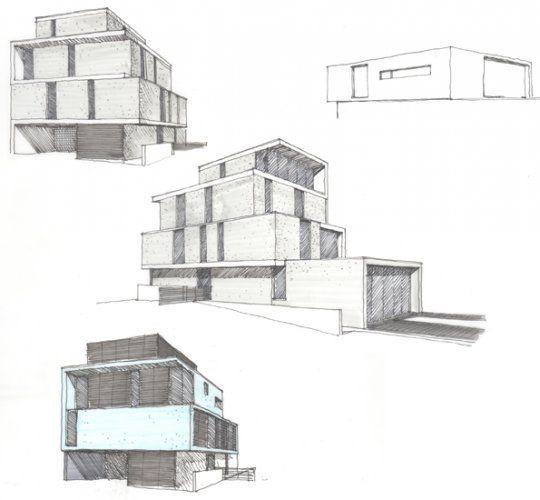 steinmetzdemeyer projets dessin en perspectiveenseignement art plastique maisons - Architecture Moderne Maison Dessin