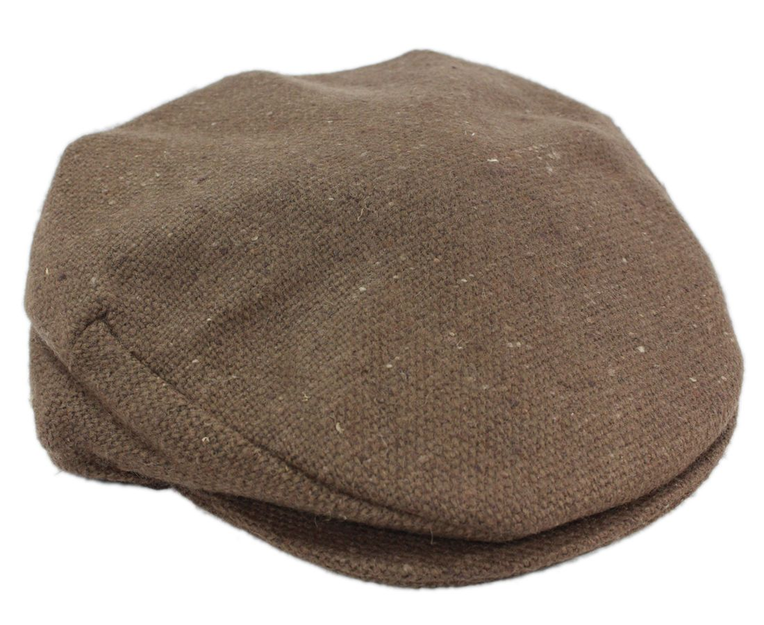 da5f437209161 Brown Flat Cap Tweed Donegal Town Hanna Hats Ireland Irish Made ...