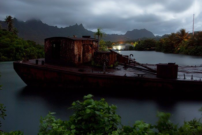 Marooned Fishing Boat Kosrae Micronesia KosraeIsland Of The - Micronesia interactive map