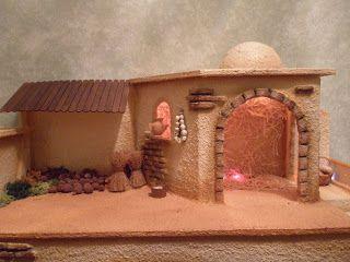 Arte Yo Y Arte Tu Portal De Belen Reciclado Belenes Belenes De Navidad Imagenes De Pesebres