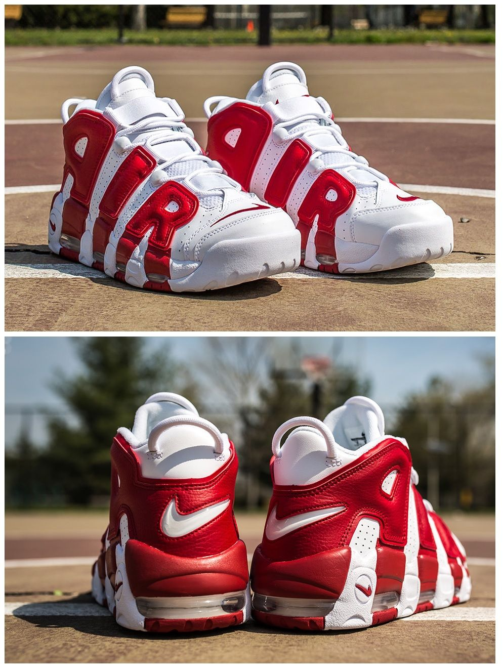 2016 Nike Air More Uptempo Coming Out Gym Design Red Used OG Menswomens 414962 100