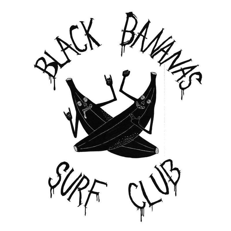Black Bananas Surf Club Alu Dibond Druck Jetzt bestellen unter ...