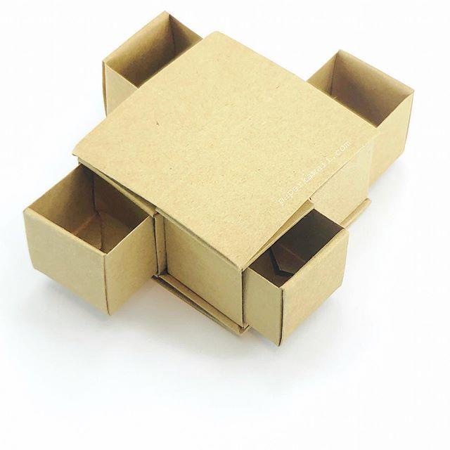 Origami Secret Drawer Box. 4 draw gift box. No glue required.  #origami #origamibox #origamigift #paperkawaii #paperfolding #diy #papercraft