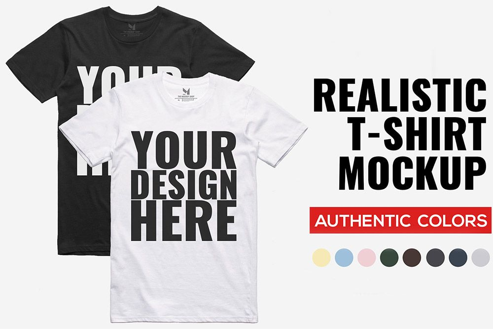 Download Free Realistic T Shirt Mockup Desain