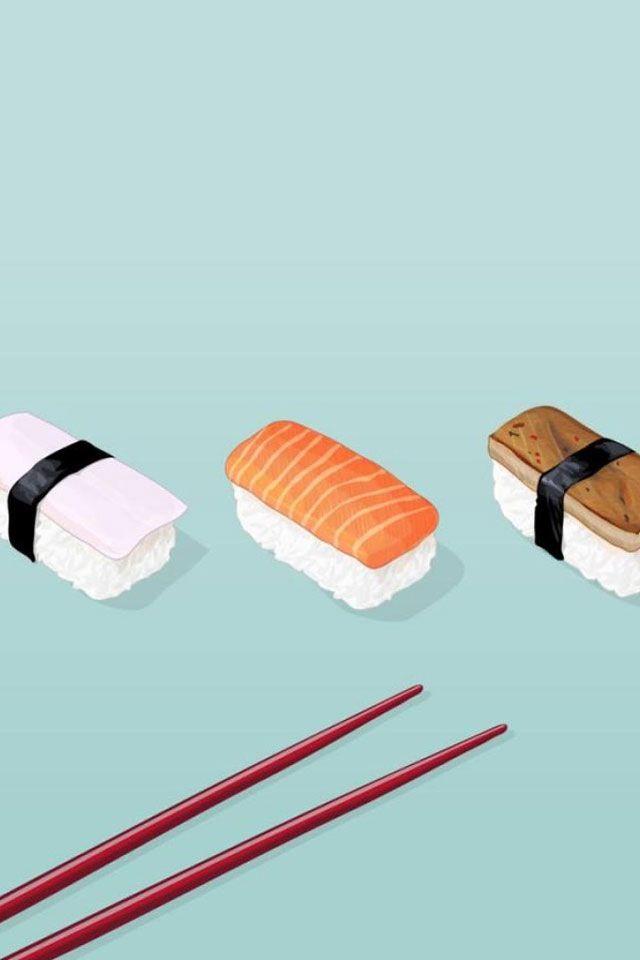 Illustration Sushi Iphone BackgroundsCool